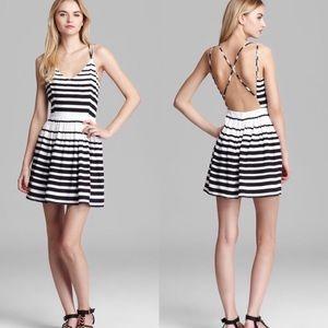 Dolce Vita Hanni  Striped Cross Back  Mini Dress M